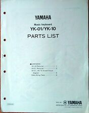 Yamaha YK-01 YK-10 Original Service Manual Parts List Circuit Diagram Booklet