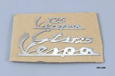 Chrome front legshied and rear cowl/side panel badges for vespa GTS 125