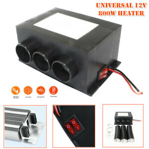 Universal 12V 800W 3 Vents Car Seat Dash Heater Fan Heated Air Window Defroster