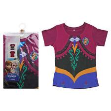NEW Official Disney Frozen Anna dress design print t-shirt 2-3yrs