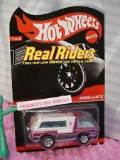 RLC Hot Wheels Real Riders AMBULANCE✰Spectraflame PINK✰Redline Club✰#2007/4000