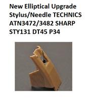 New Elliptical Upgrade Stylus/Needle TECHNICS ATN3472/3482 SHARP STY131 DT45 P34