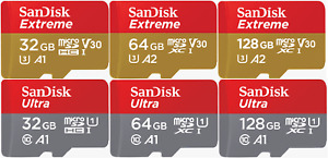 SanDisk 32GB 64GB 128GB ULTRA EXTREME PRO Micro SD Memory Card SDHC XC A1 V30 U3