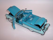 FRANKLIN MINT 1/24 1954 FORD SUNLINER CONVERTIBLE TWO-TONE BLUE MINT