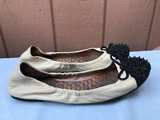 EUC Sam Edelman Beatrix Womens US 8M EUR 39 Beige Leather Ballet Flats Casual
