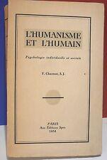 Chamot. L' humanisme et l' humain, 1934…World FREE Shipping*