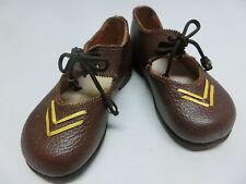 alte Lederschuhe braun in Größe 20, Kinderschuhe Puppenschuhe Schuhe Leder  #420