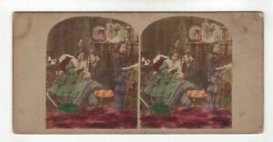 Quite A Hopeless Case - Domestic - Hand Tinted Genre Stereoview c1850s