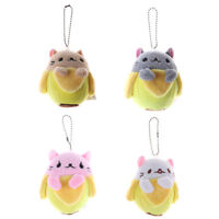 Banana Cat Plush Toy Soft Stuffed Animal Doll Keychain Gift JR