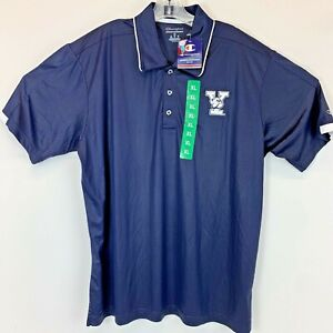 Yale University Bulldogs Mens XLarge Navy Blue Embroidered Polo Shirt NWTs(L12)
