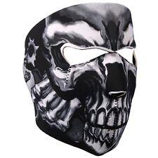 Biker Motorrad Face Mask Assassin Skull Guns Totenkopf Pistolen Maske Sturmhaube