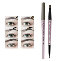 Women Waterproof Eye Brow Eyeliner Pen Pencil With Brush Makeup Cosmetic Tool