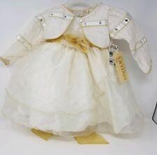 Carter's Baby Girl 12M Dress With Bolero Jacket Cream & Gold