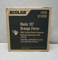 ECOLAB 14559 - Oasis 137 Orange Force Multi-Surface Cleaner Degreaser 2.5G #3169