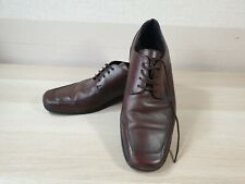 MENS HUSH PUPPIES LACE UP SQUARE TOE LEATHER BROWN WORK SHOES CAMBRIDGE UK8