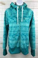Billabong Womens Snowboard Ski Fleece Zip Up Hoodie Jacket Size XL EUC A0205