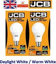 15w = 100w LED GLS Bayonet Light Bulb Warm White / Daylight 100 Watt JCB