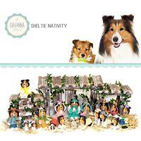 SAVANNASHOPS Dog Nativity Sheltie Gifts - Nativity Sets - Shetland Sheepdog