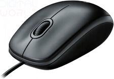 Logitech B100 MOUSE OTTICO USB AMBIDESTRO per Windows, Mac e Linux-Nero