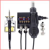 Soldering Hot Air Gun Rework Station 2in1 Digital Display Welding Solder Tool 🔥