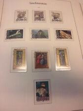 Sammlung, Liechtenstein 1980-1989, gestempelt, komplett (8055)