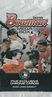 2019 BOWMAN CHROME BASEBALL MEGA BOX (1) FACTORY SEALED PACK - 5 EXCLUSIVE CARDS