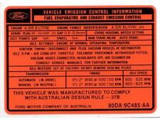 Ford Decal Exhaust Emission XD 302/351 Late (Orange) # ED2000G