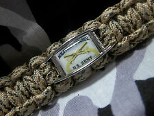 U.S. Army Military Police Corps MP 550lb Paracord Key Fob w/ 220lb Carabiner