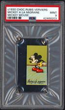 1930 Chocolaterie Rubis Verviers Mickey Mouse, A LA MIGRAINE PSA 9 MINT