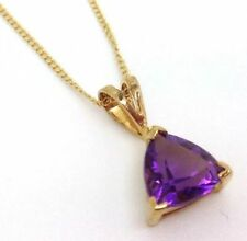 "16 - 17.99"" Natural Amethyst Fine Necklaces & Pendants"