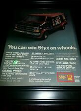 Styx A&M Records Van Giveaway Contest 1979 Promo Poster Ad Framed!