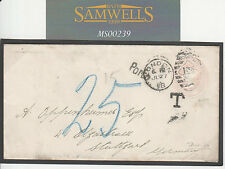 Ms239 1898 Gb Gold Mining Postal Stationery Sto 1d Pink Underpaid Germany Rare