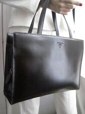 NEW AUTHENTIC PRADA CALF LEATHER SATCHEL TOTE PURSE BAG EXCELLENT