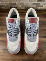 Nike Air Max 90 Essential, Grey/Red 537384-039 Size 13