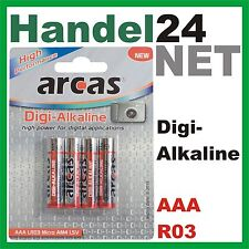 4 x arcas Digi Alkaline LR03, R03 Micro, AAA 1,5V Batterien