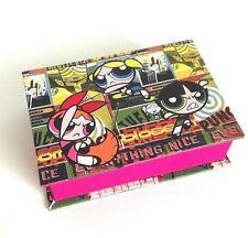 Powerpuff Girls Jewellery Box Pink Cartoon Network Rare
