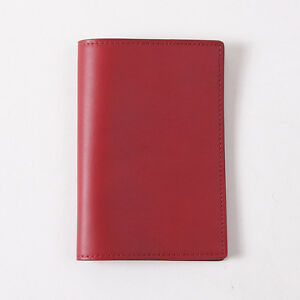 NWT TOM FORD Brick Red Smooth Calfskin Leather Passport Cover Holder Wallet