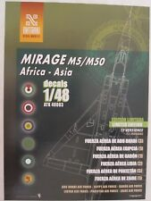 1/48 Decals for Mirage M5/M50 in Africa and Asia by Antarki - 16 versions