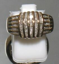 Baguette Diamond & 10ct Gold Ladies Ring-NEW +Val $1590