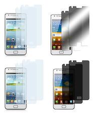 8 x Samsung Galaxy S2 Klar + Matt + Spiegel + Privacy Displayschutzfolie Folie