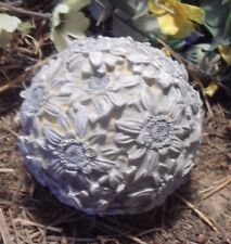 "Latex flower garden ball mold 4"" x 4"" plaster concrete casting mould"