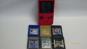 NINTENDO GAMEBOY COLOR-BERRY-WITH SIX GAMES (3 POKEMON) TESTED (TDW012534)