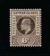 Cayman Islands, Sc 6 (SG 6), MLH (few toned perfs on back)