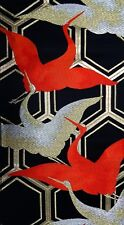 Vintage Japanese Silk Kimono Obi Fabric Panel Quilting Patchwork #587
