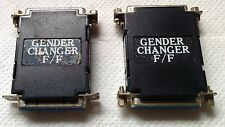 2 x RS-232 Gender Changer F-F 28 pin