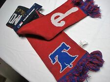"""NWT PHILADELPHIA PHILLIES / MLS UNION FRINGED DOUBLE SIDED WINTER SCARF 60"""" X 7"""""""