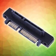 90° Gewinkelt SATA 22 (7+15)Pin Stecker Zu Buchse Verlängerungskabel Adapter Hot