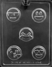 EMOJI Oreo Type Cookie Chocolate Mould 5 Different Shapes On 1 Mould