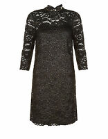 New Monsoon Black Lace Occasion Shift Dress - Sz 14 - Wedding/Cruise/Cocktail
