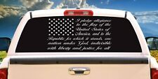 American flag pledge of allegiance Vinyl Decal Sticker Car Truck Window